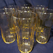 7 Yellow Canary Glass Tumblers