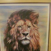 1976 Pride's Patriot, Lion, Limited Edition Lithograph, Signed Robert E Trimm, Numbered 57/350