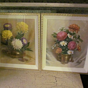 Great 1950's  3-D  Dimensional Pictures, Daisies Chrysanthemums