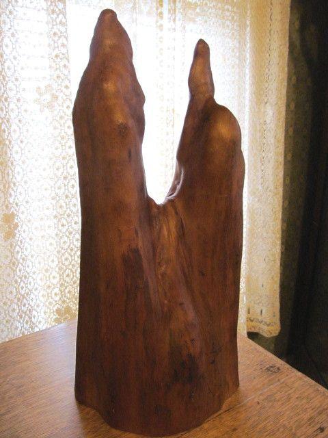"Mid Century 17 1/2""  Cypress Wood Root Decorative Piece"