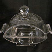 EAPG Persian Shawl Covered Compote, Riverside Glass Co