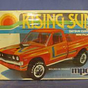 1980 Sealed MPC Rising Sun Datsun Custom Pickup Truck 1/25 Scale Model Kit