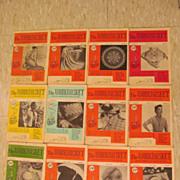 1955 Workbaskets Needlecraft Magazine,Complete Year,12 Issues