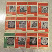 1954 Workbasket Needlecraft Magazine,Complete Year,12 Issues