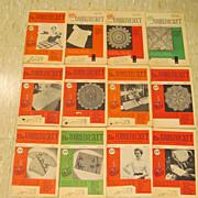 1956 Workbasket Needlecraft Magazine,,Complete Year,12 Issues