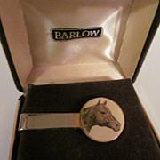 Mens Barlow Horse Head Tie Clip with Box