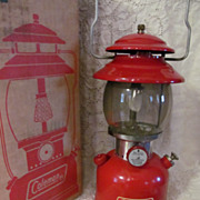 1962 Red Coleman 200A195,Single Mantle Lantern, Box, Paperwork,EX