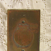 Brass Flip Up Outlet Wall Cover