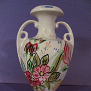 Lovely Blue Ridge,Nove Rose, Handled Vase