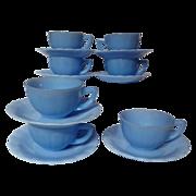 Vintage Pyrex Delphite Pie Crust Cup & Saucer Set - 7 Available