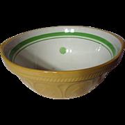 Vintage TG Green Yellow Ware Green Dot & Band Easimix Mixing Bowl