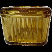 Vintage Federal Glass Amber Refrigerator Dish