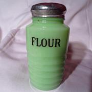 Jeannette Jadite Ribbed Flour Shaker