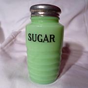 Jeannette Jadite Ribbed Sugar Shaker