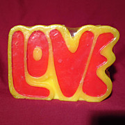 Retro 1970's Figural LOVE Candle