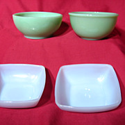 Fire King Jade-ite Azurite Bowl Assortment