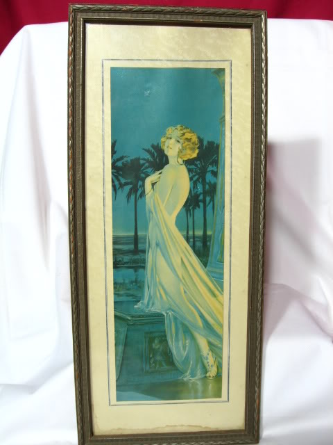 Art Deco Draped Nude Flapper Framed Print