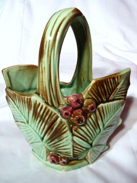 Vintage McCoy Leaf And Berry Basket