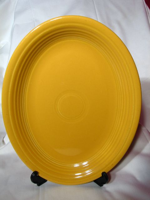 Vintage Fiesta Original Yellow Oval Platter