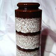 Retro West German Scheurich Fat Lava Vase~206-26