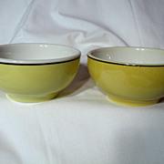 Vintage Pair CNR China Soup Bowls