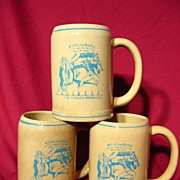New Medalta Ceramic Winnipeg Press Club Beer Mug Trio