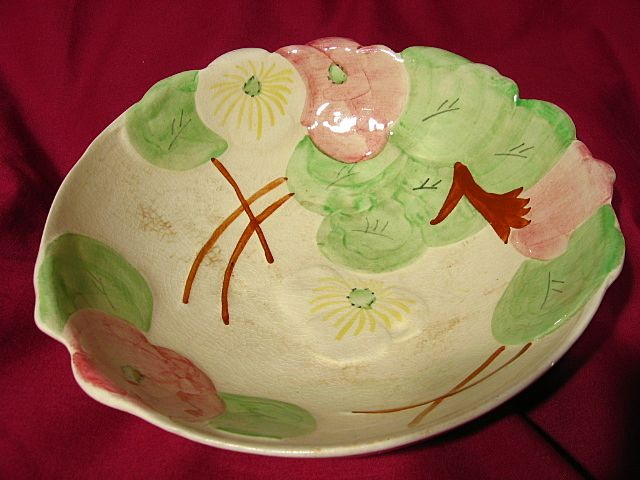 Avon Ware Hand Decorated Footed Serving Bowl