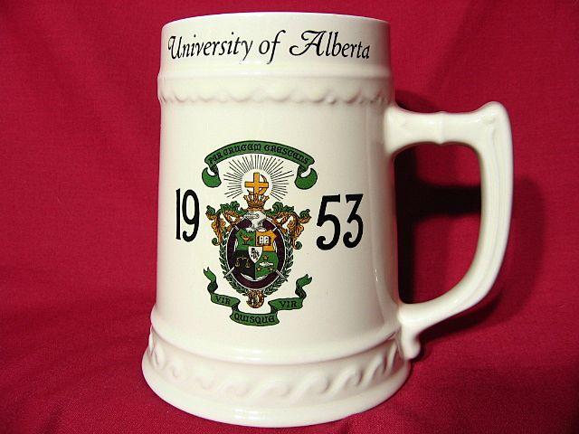 Nassau China University Of Alberta Fraternal Beer Stein ~ 1953