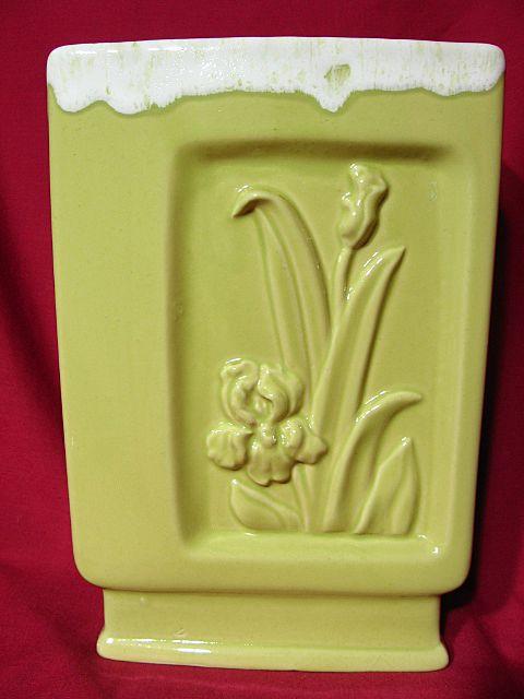Vintage Napco Chartreuse Lilies Vase