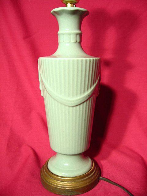 Abingdon Pottery Drape And Tassel Table Lamp