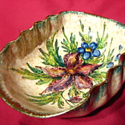 S.A.C.A. Sesto Fiorentino Fluted Bowl ~ Orchids