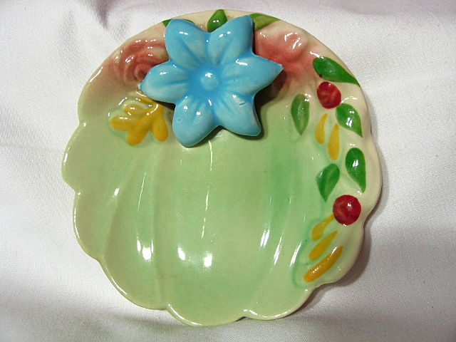 Chic Pottery Flower Form Pin Dish
