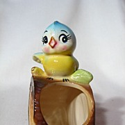 Vintage Norcrest Bluebird Toothpick Holder