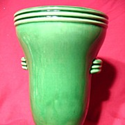 Gloss Green McCoy Horizontal Ribbed Vase