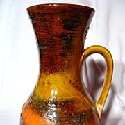 Carstens Tonnieshof Bumpy Lava Earthtones Pitcher Vase
