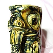 Native American Studio Pottery West Coast Beaver Totem Stein