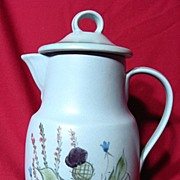 Buchan Stoneware Scottish Thistle 6 Cup Coffee Pot