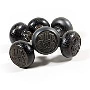 """Antique Emblematic """"J.H."""" Doorknob Sets from Jefferson Hotel, St. Louis, c. 1904"""