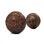 "Divine Antique Cast Bronze Mallory & Wheeler ""Star"" Doorknob Set, c. 1874"