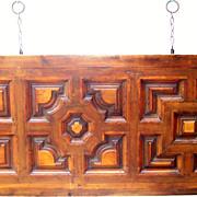 Italian Walnut & Fruitwood Headboard for a King / Queen Bed