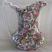 """Early 1900's Chintz Pattern Pitcher/Jug """"Crown Ducal""""  by A.G. Richardson & Co."""