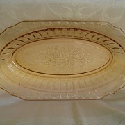 """Pink Mayfair """" Open Rose"""" Depression Glass Bowl"""