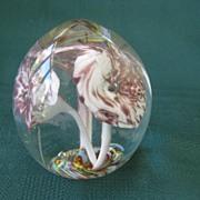Vintage Hand Blown Glass Paperweight