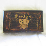 Wood Playing Card Box for Bridge Cards