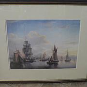 Scottish Framed Seascape Print - The Port of Leith by Alexander Nasmyht