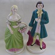 Vintage Pair of Colonial Dressed Figurines