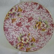 """English China Chintz Plate 6 3/4"""" Royal Winton """"Dorset Pattern"""""""