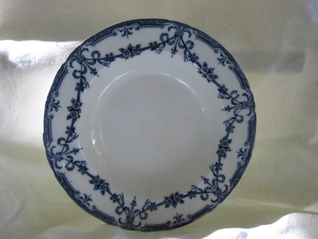 """Flow Blue China Soup Plate - Adderleys - Pattern  """"Alexis"""""""