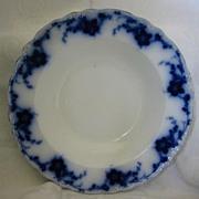 """Beautiful Flow Blue China Soup Plate - Alfred Meakin- Pattern """"Oakley"""""""