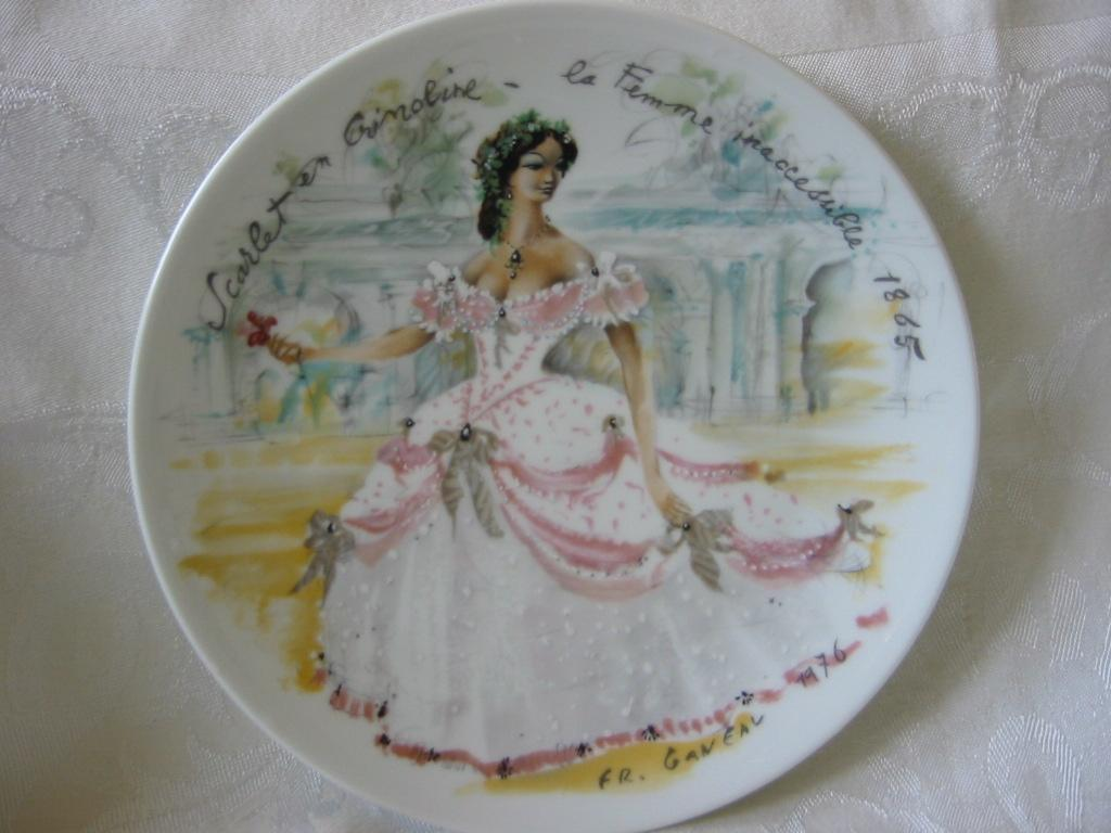 """Collector Plate 1 """"  Women Of The Century"""" by Ganeau  """"Scarlet in Crinoline"""""""